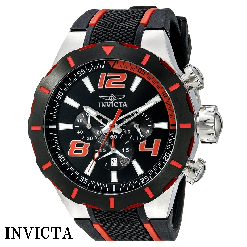cheap invicta mens black watches popular item buyma
