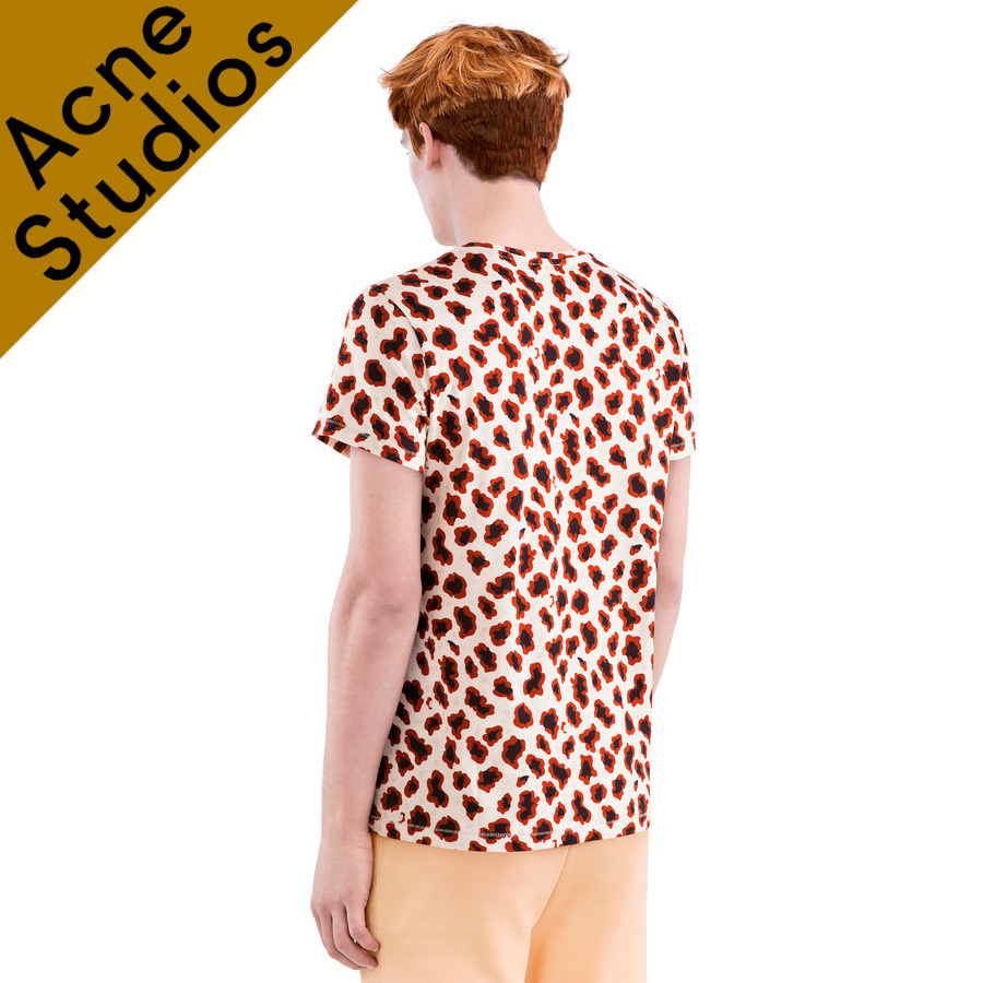 Acne * Standard animal print cotton t-shirt