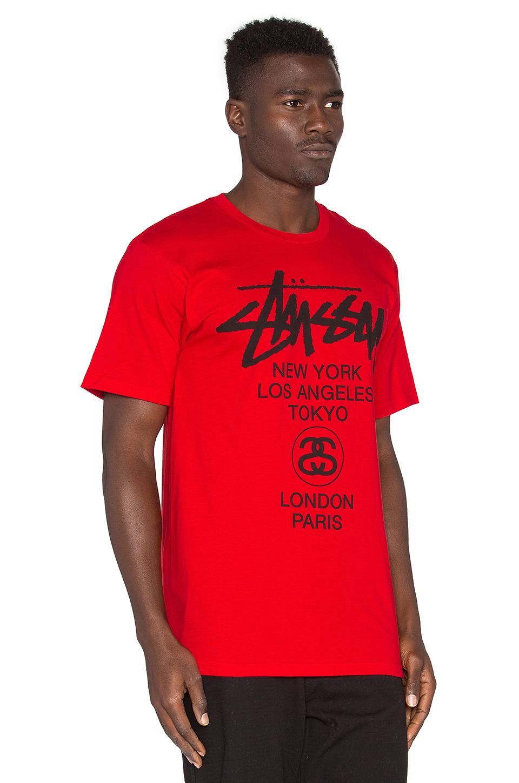 Stussy World Tour T Shirt Buyma