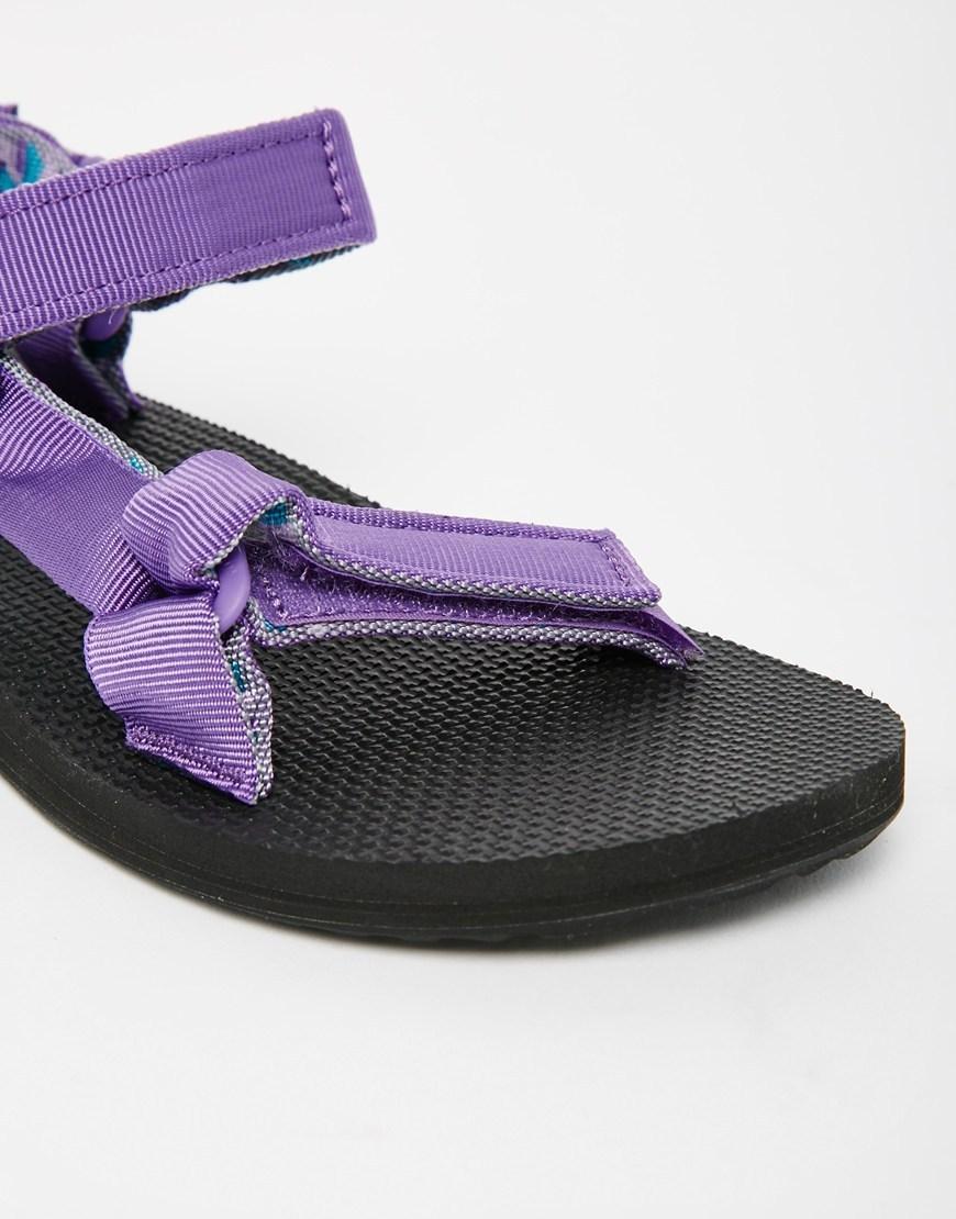 Teva Sandals Flat Purple Wine Floral