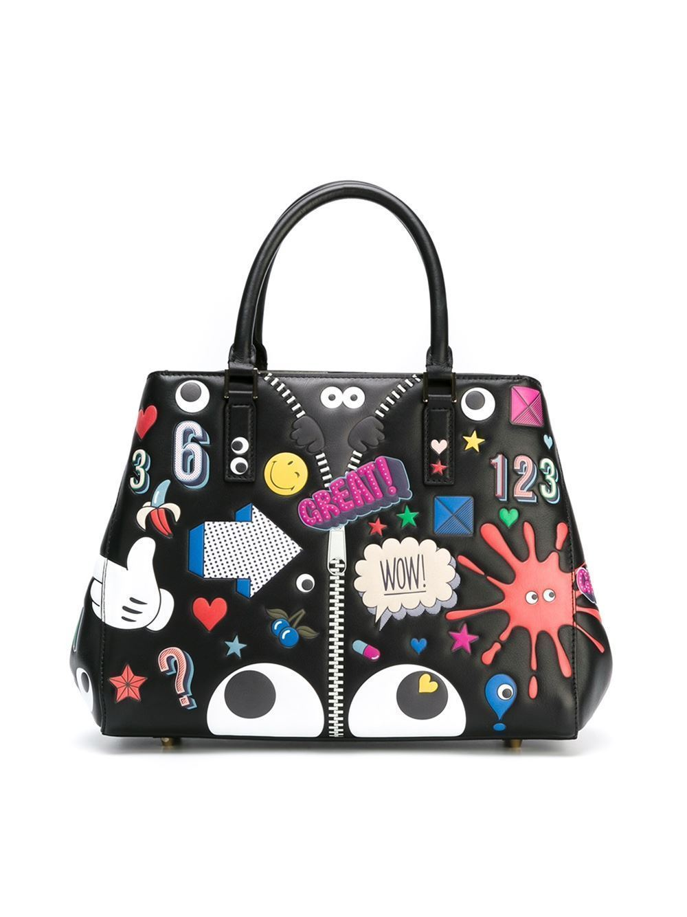 anya hindmarch all over stickers small ebury tote buyma. Black Bedroom Furniture Sets. Home Design Ideas