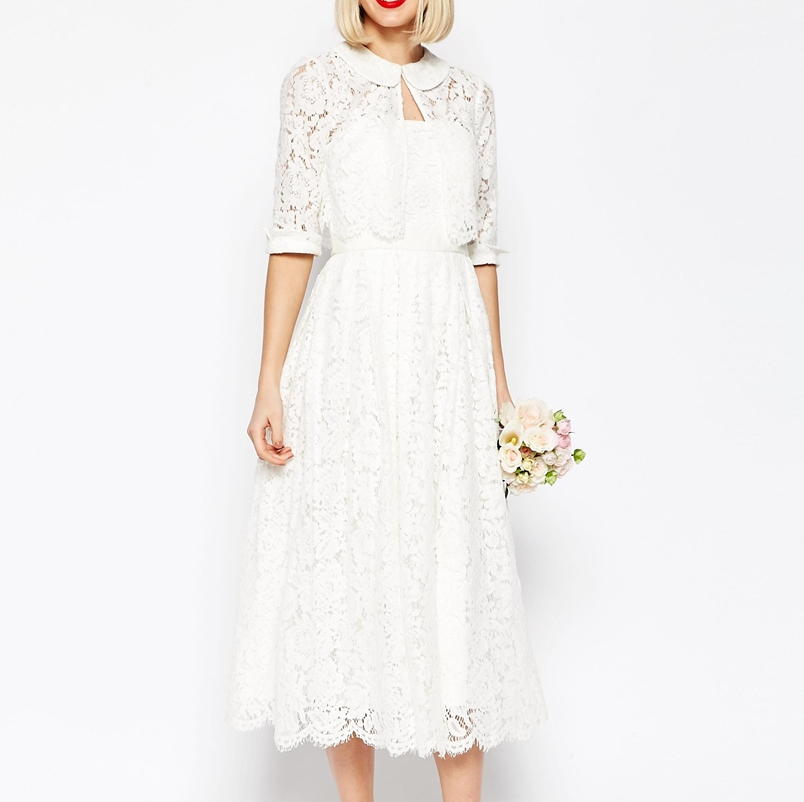 Asos Bridal Jacket Lace Midi White Buyma