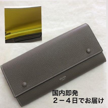 celine blue wrap around wallet
