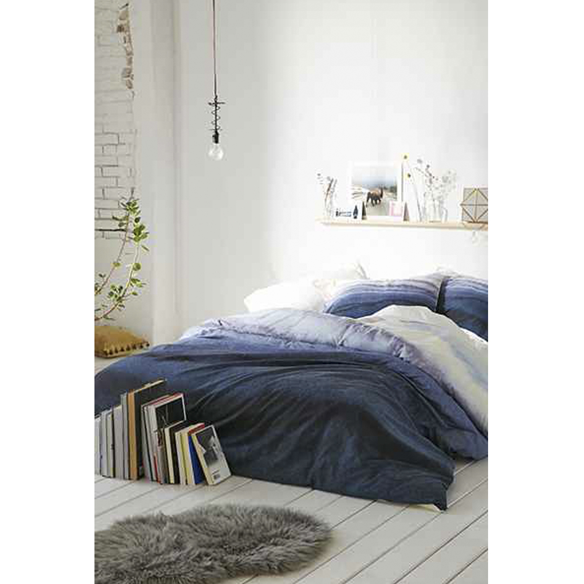 Urban Outfitter Blue Quilt Cover 3 Size Buyma