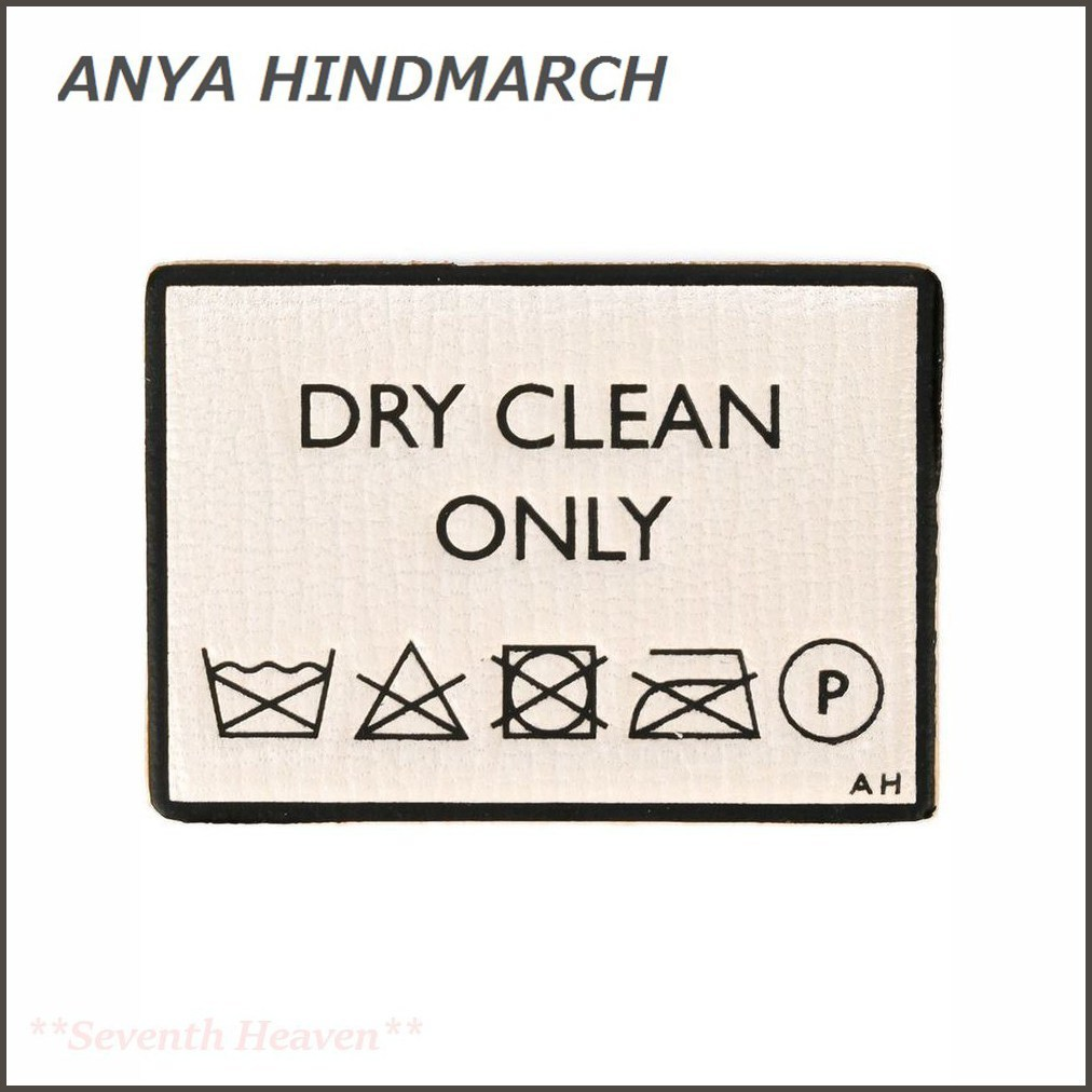 ANYA HINDMARCH Dry Clean Only stickers BUYMA