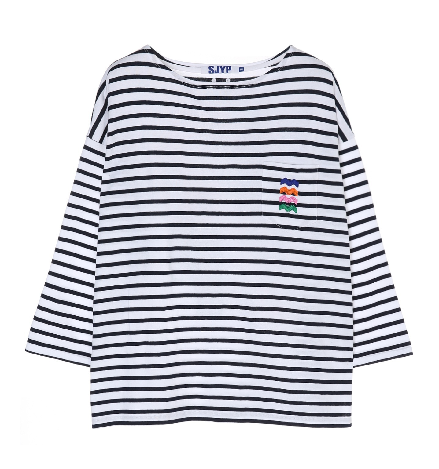 sjyp dhl secured shipping sjyp striped t shirt navy buyma. Black Bedroom Furniture Sets. Home Design Ideas