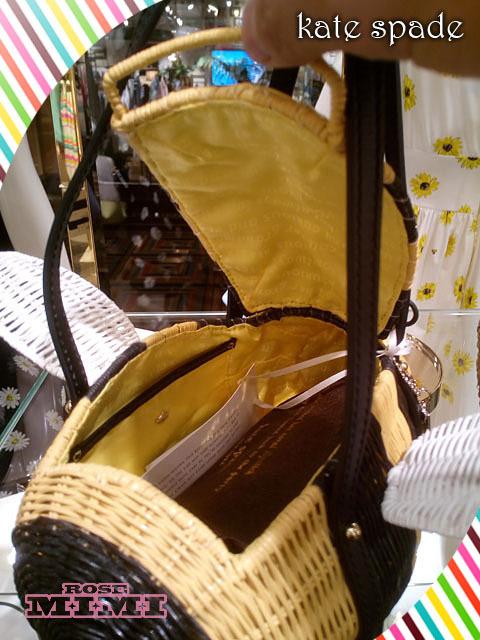 Super cute basket back kate spade hole wicker bee buyma - Wicker beehive basket ...