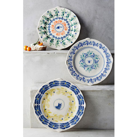 2 canape plate antholopologyneko and bird set buyma for Calligrapher canape plate anthropologie