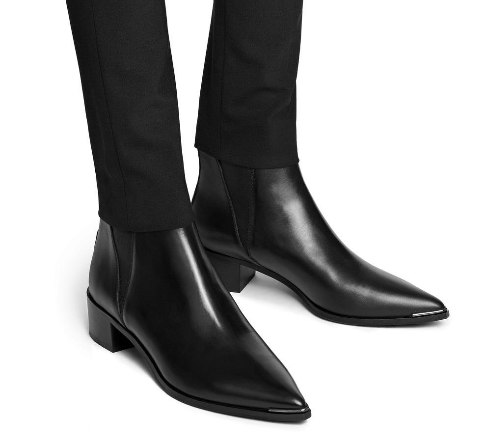 acne jensen jensen leather chelsea boots buyma. Black Bedroom Furniture Sets. Home Design Ideas