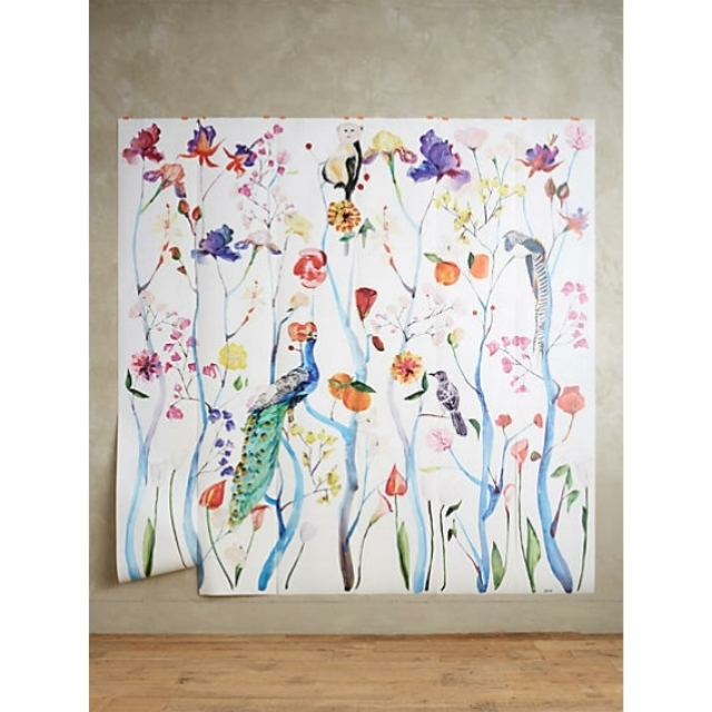 Anthropologie garden chinoiserie mural wallpaper buyma for Chinoiserie mural wallpaper
