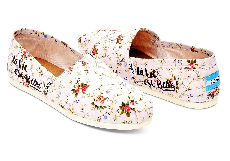 TOMS flower pattern Slip-on shoes Floral