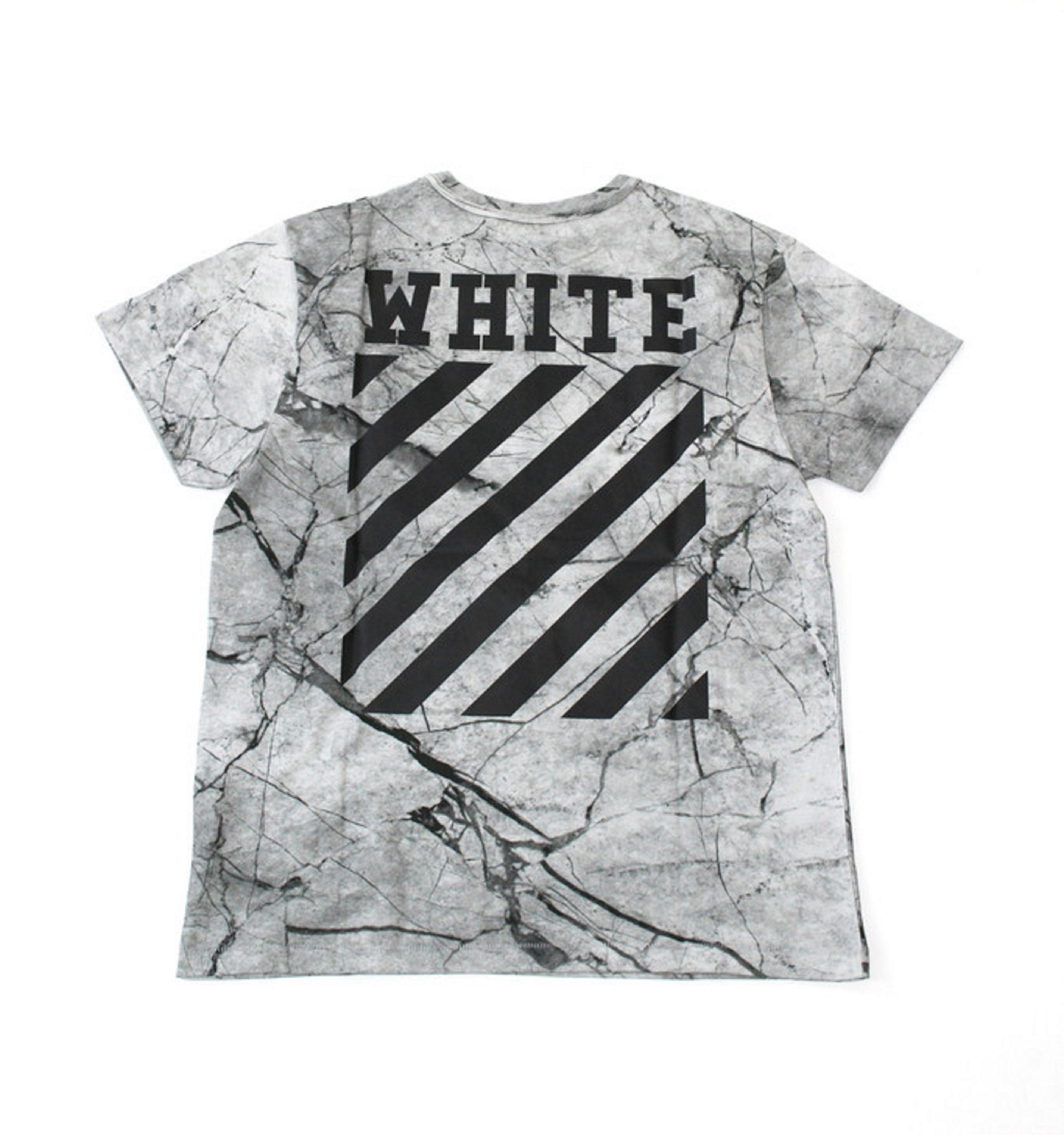 Off White Marble : Off white ss grey marble caravaggio t shirt