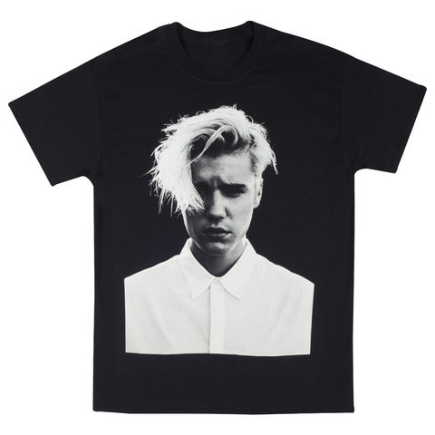 Purpose tour justin bieber fear of god photo t shirt buyma for Justin bieber black and white shirt