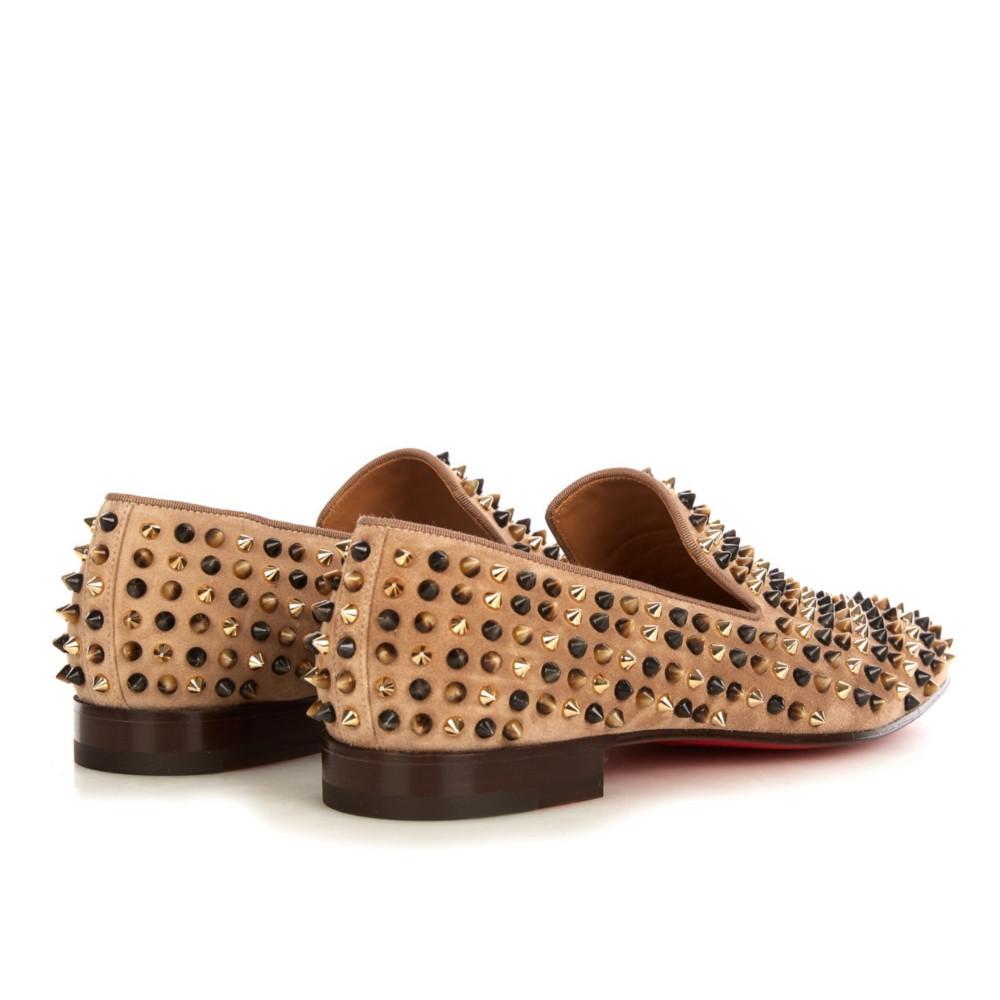 christian louboutin popcorn spikes slip on shoes buyma