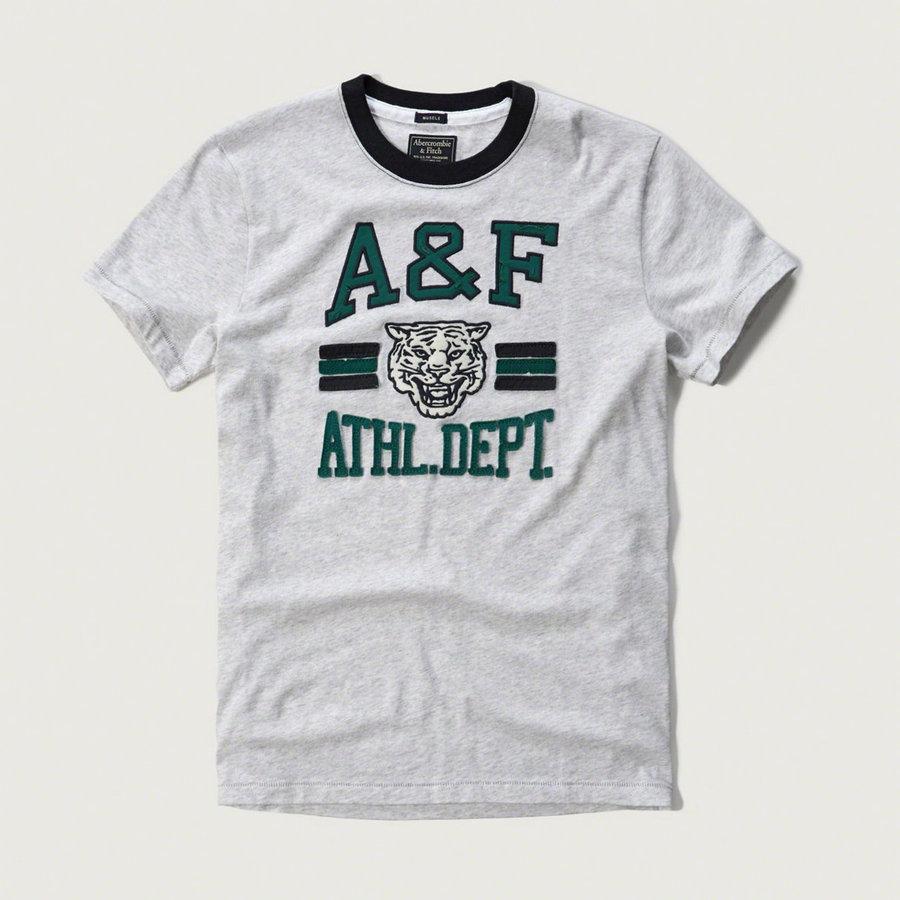 Abercrombie fitch t shirt applique logo graphic tee buyma for Abercrombie logo t shirt
