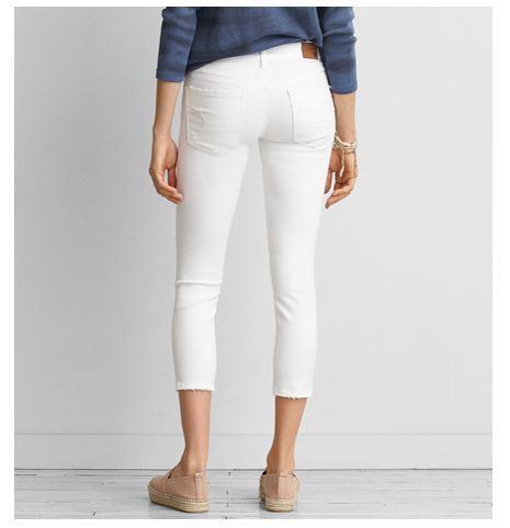 American Eagle white damage jeans - BUYMA