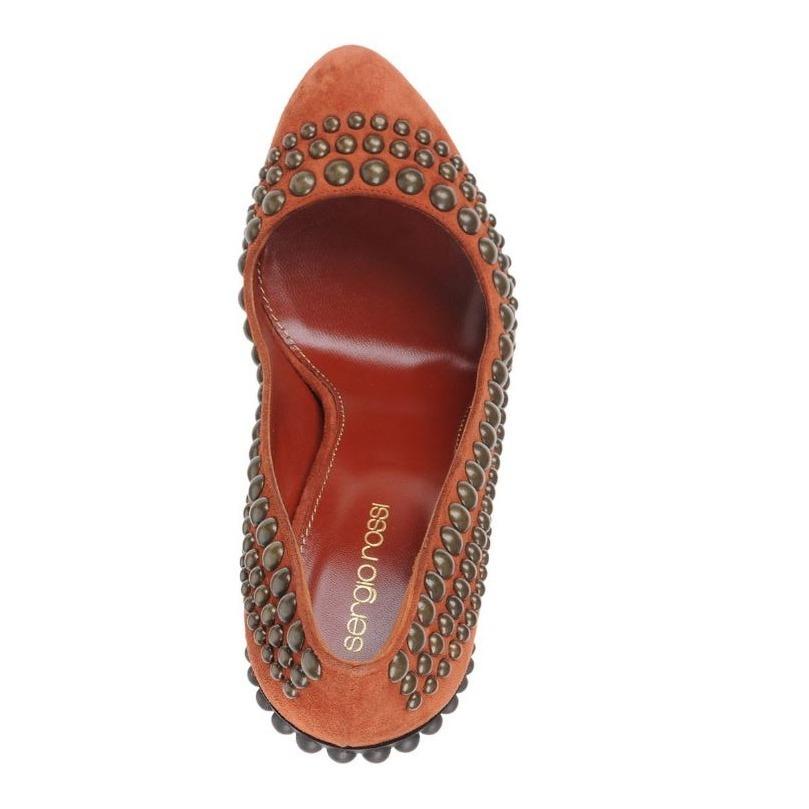 sergio rossi sale metal decorative pumps reddish brown buyma. Black Bedroom Furniture Sets. Home Design Ideas