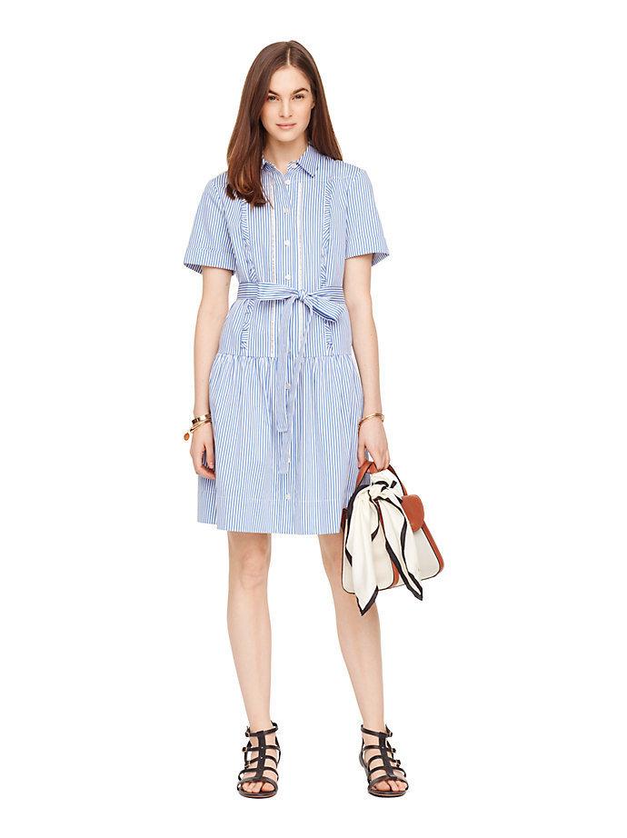 Final Sale Kate Spade Pinstripe Shirt Dress Buyma