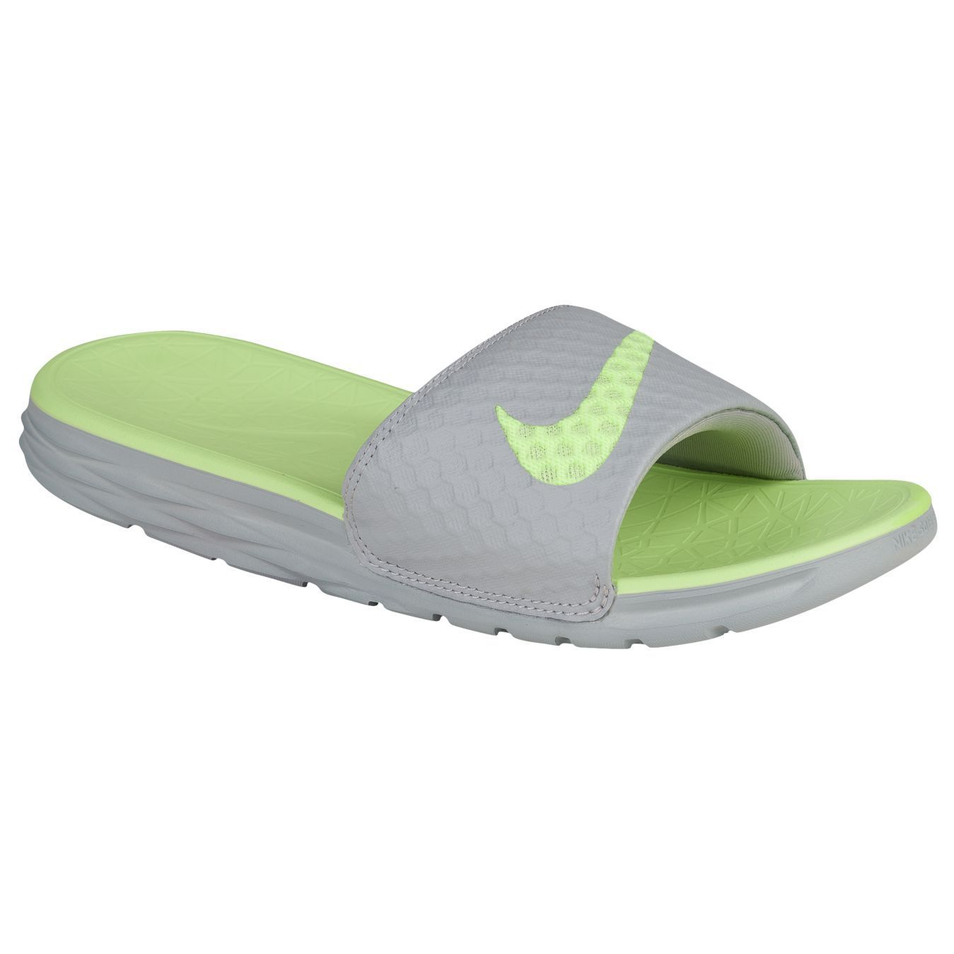 Elegant Nike Benassi Solarsoft - Womens Slides - Black/Grey Online | Sportitude