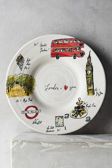 Anthropologie city vignette canape plate buyma for Calligrapher canape plate anthropologie