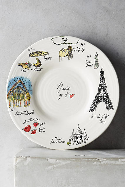 Anthropologie city vignette canape plate buyma for Canape plate size