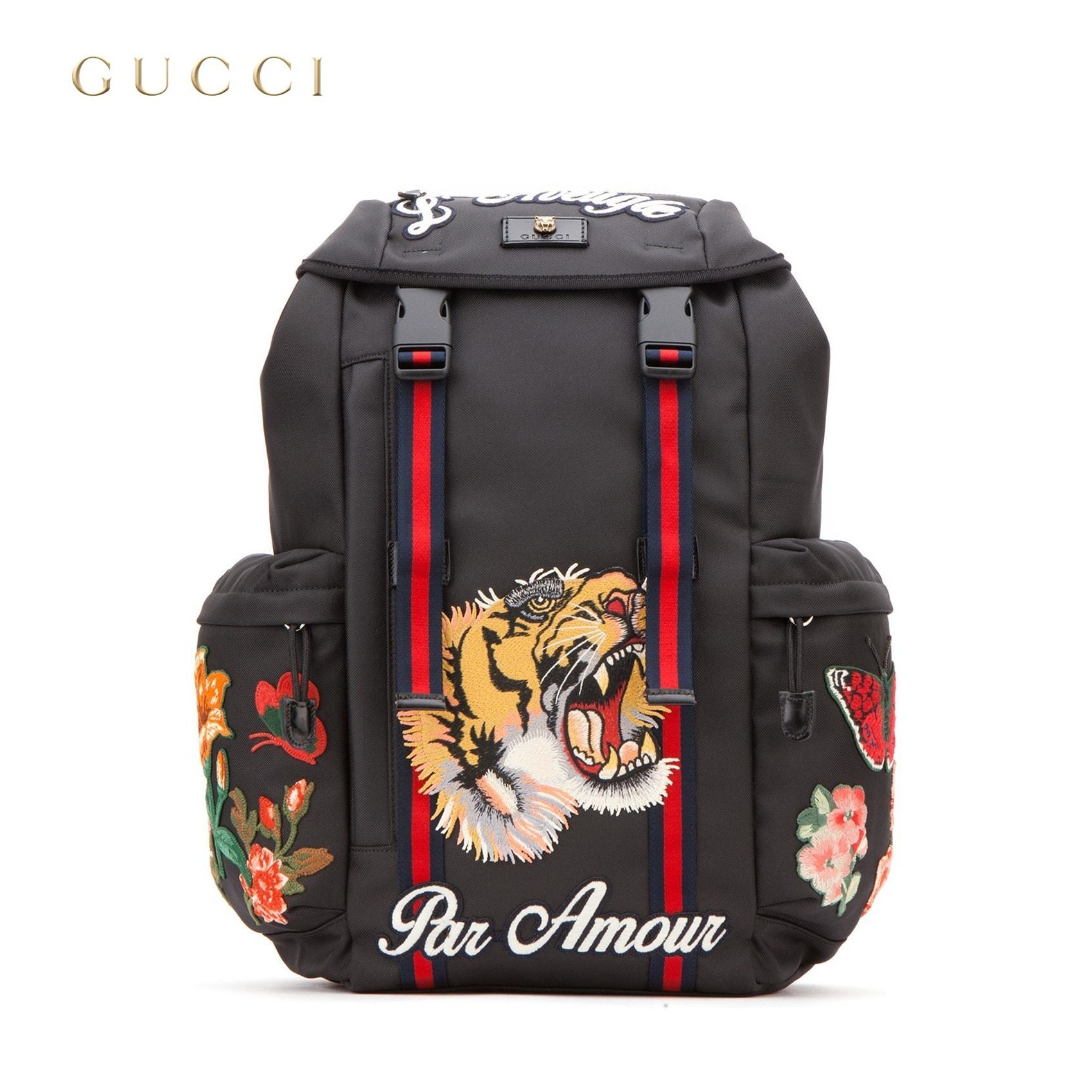 16 AW GUCCI Tiger applique back pack BUYMA 0279a46bf35