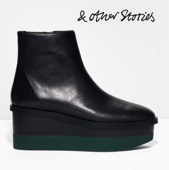 sale other stories platform leather ankle boots buyma. Black Bedroom Furniture Sets. Home Design Ideas