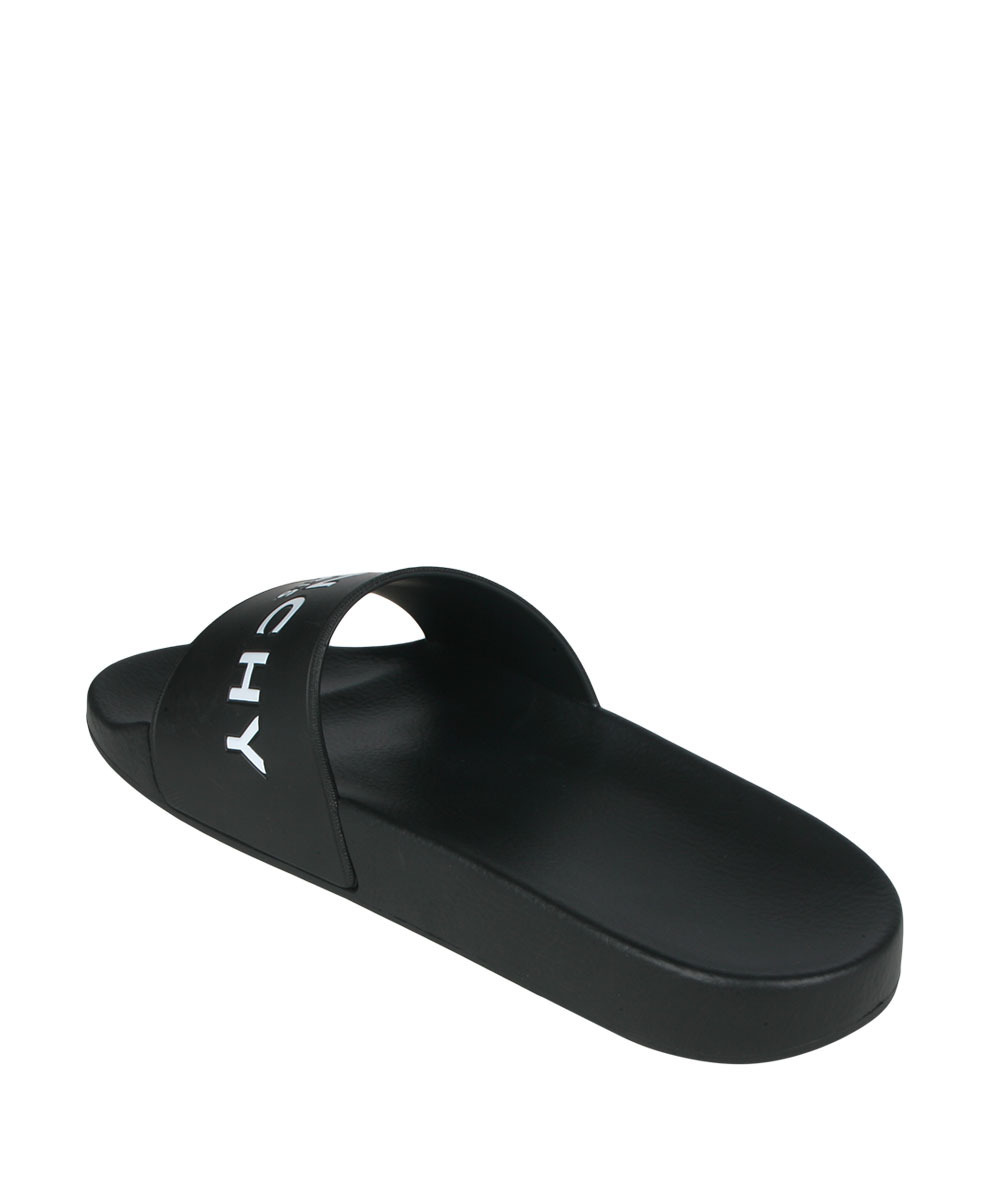 popular givenchy logo shower sandals black buyma