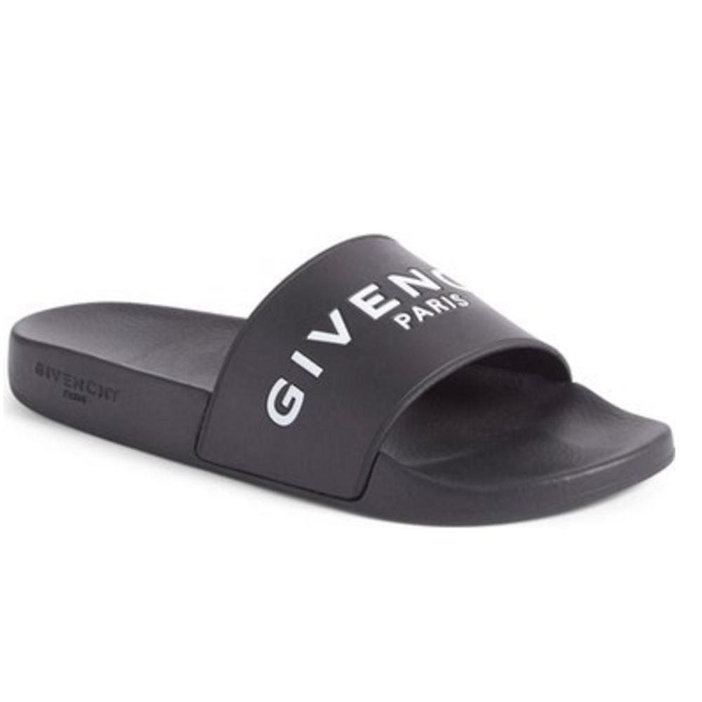 givenchy shower sandals rubber slide black buyma