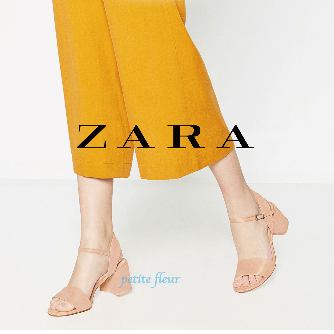 ZARA ankle strap with suede in sandals and
