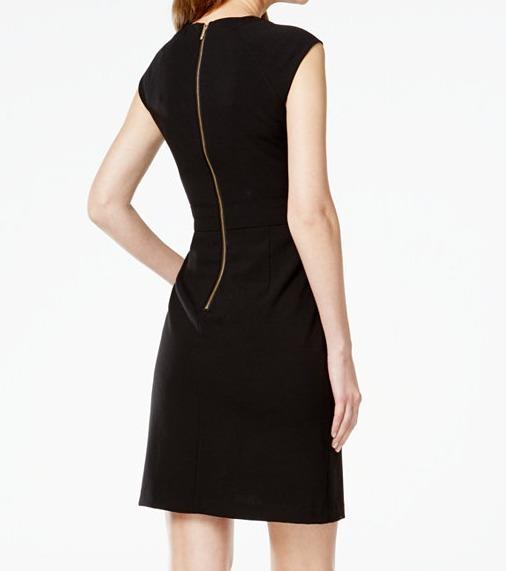 Women clothing dresses limited sale calvin klein black tight dress