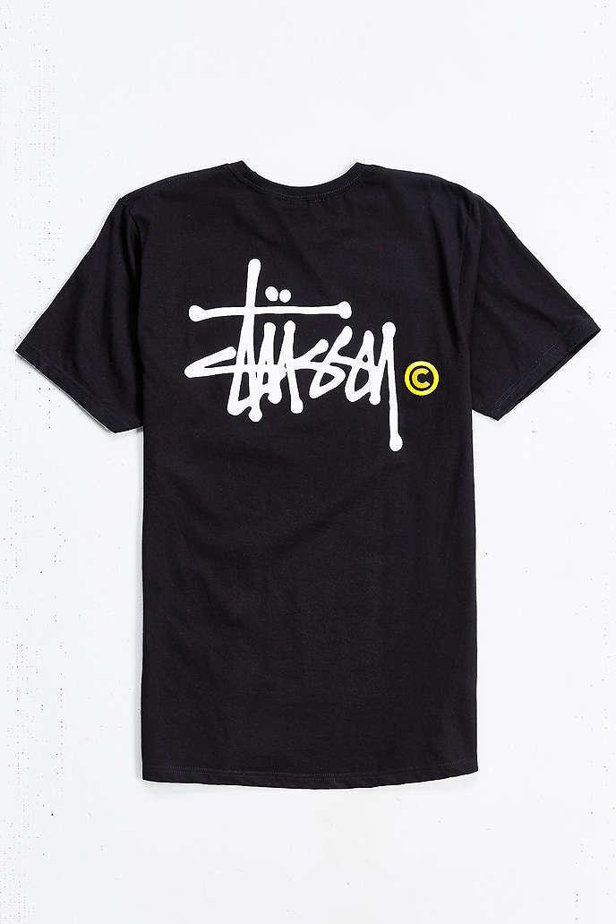 Popular brand stussy classic logo t shirt buyma for T shirt brand logo