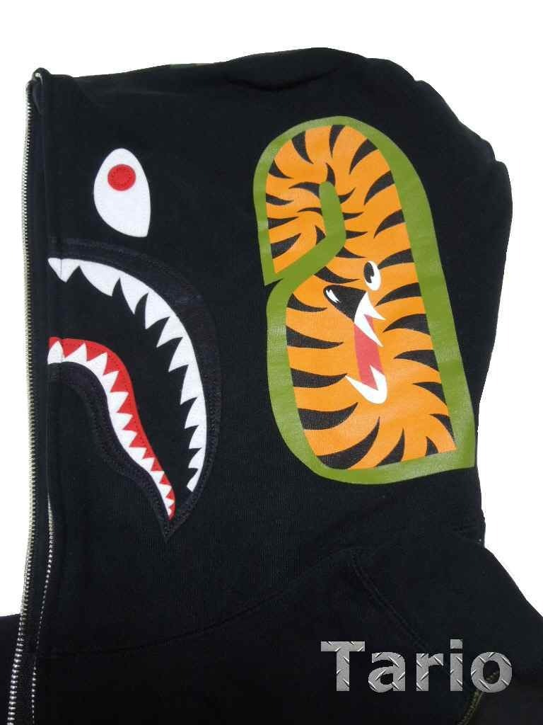 A Bathing Ape Shark Full Zip Hoodie Black Size M Bape Buyma