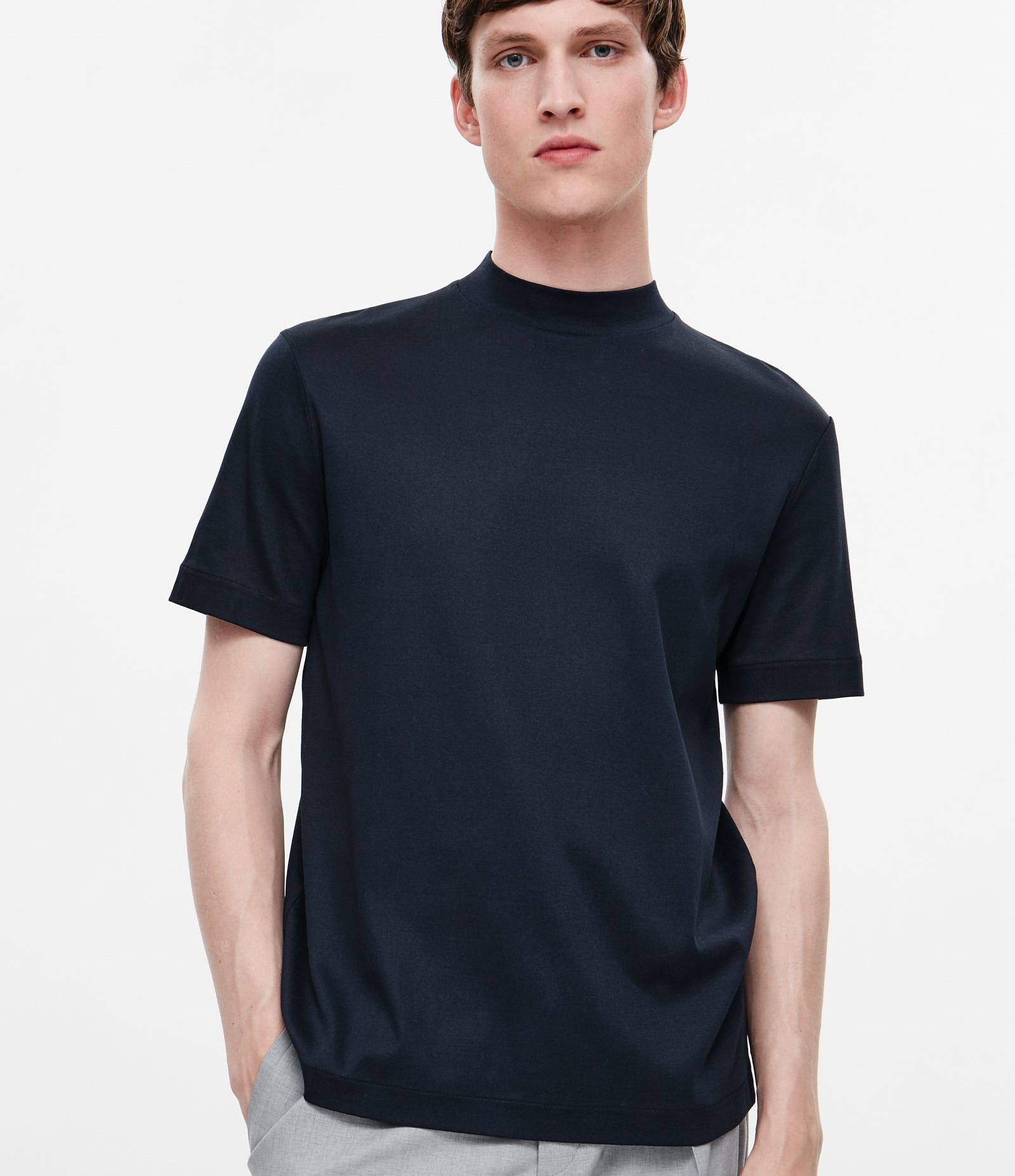 Cos men high neck t shirt offwhite buyma for High neck tee shirts