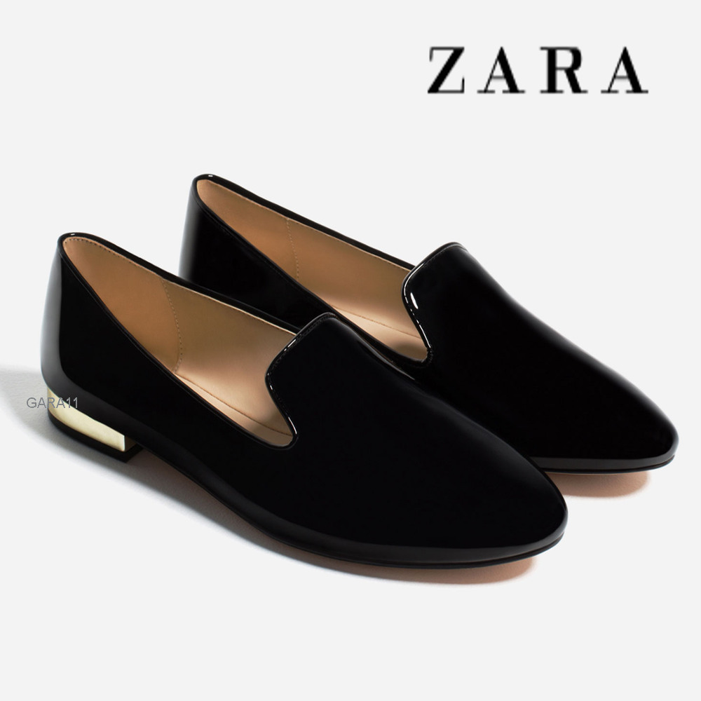 Wonderful Zara Pointed Flat Shoe In Black  Lyst