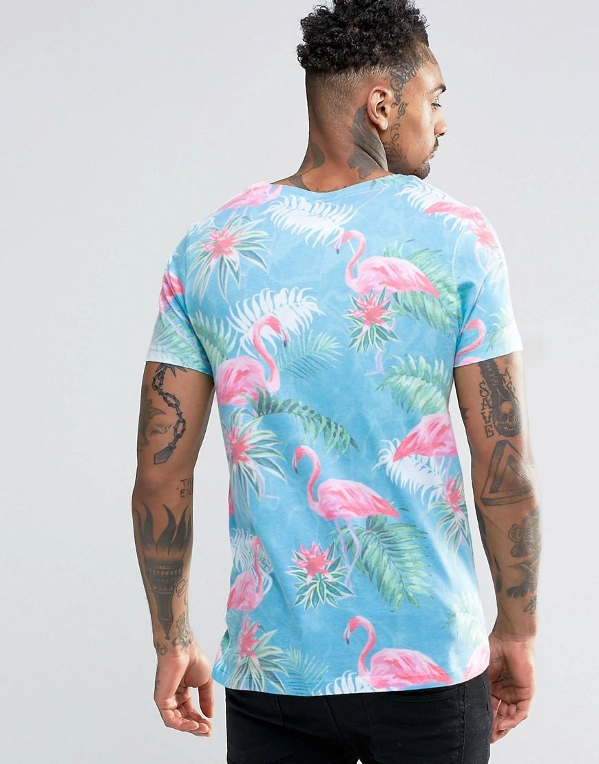 Asos Flamingo Print T Shirt Buyma