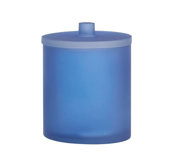 pottery barn navy canister tray 3 piece set buyma
