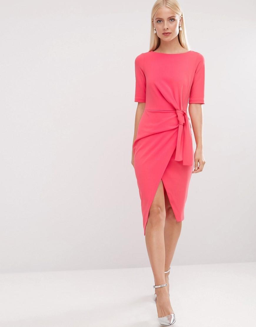 asos sale pink front knot dress buyma. Black Bedroom Furniture Sets. Home Design Ideas