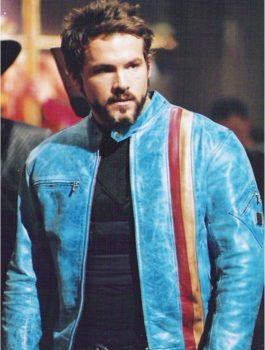 Ryan Reynolds Hannibal King leather Jacket
