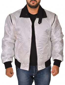 SCORPIO BACK , PEARL WHITE JACKET