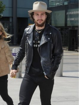 Aaron Taylor Johnson Elizabeth Premier Leather Jacket