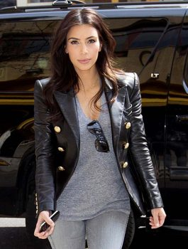 Kim Kardashian Leather Jacket