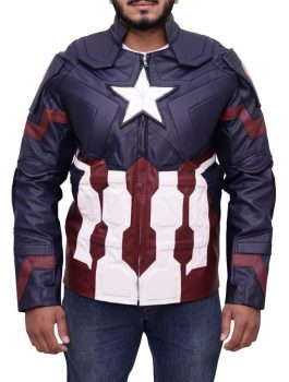 Outstanding Avengers Age Of Ultron Captain America Jacket.