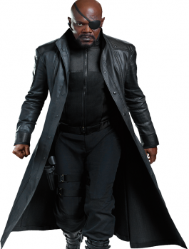 Classy Avengers Age Of Ultron Nick Fury Black Jacket