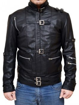 Appealing Michael Jackson Bad Black Leather Jacket