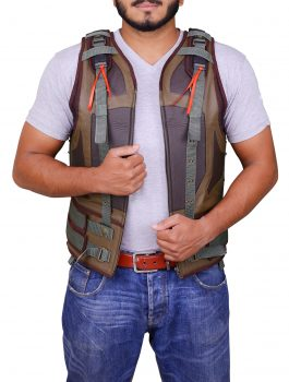 The Dark Knight Rises Men's Synthetic Leather Bane Vest.