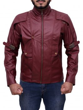 Guardians of the Galaxy Chris Pratt Star Lord Maroon Jacket