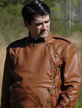 Bill Clifford The Rocketeer Brown Leather Jacket