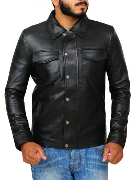 American singer Adam Lambert Black Jacket