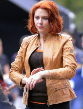 Sizzling Scarlett Johansson Set Of Avengers Outfit Jacket